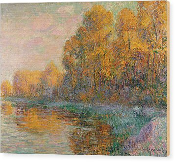 A River In Autumn Wood Print by Gustave Loiseau