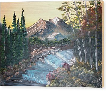 A River Runs Through It Wood Print by Sheldon Morgan