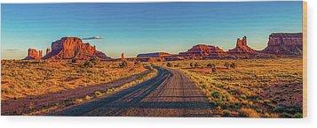A Road Less Travelled Wood Print by Az Jackson