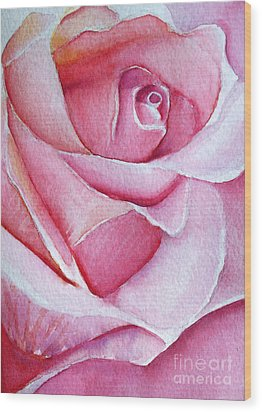 Wood Print featuring the painting A Rose For You by Allison Ashton