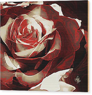A Rose Of Love Wood Print