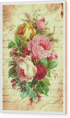 A Rose Speaks Of Love Wood Print