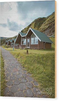 Wood Print featuring the photograph A Row Of Cabins In Iceland by Edward Fielding