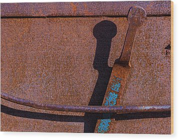 Wood Print featuring the photograph A Rusted Development II by Paul Wear