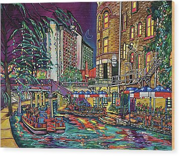 A San Antonio Christmas Wood Print by Patti Schermerhorn