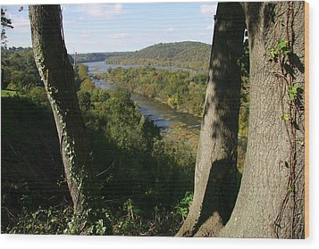 A Scenic View Of The Potomac River Wood Print by Stephen St. John