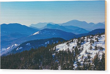 A Sea Of Mountains, South Moat Mountain Summit Wood Print