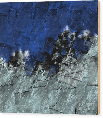 Wood Print featuring the digital art A Sea Storm In My Heart by Silvia Ganora