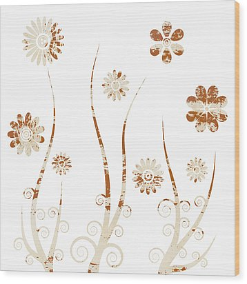 A Shabby Meadow Wood Print by Frank Tschakert
