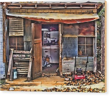 Wood Print featuring the photograph A Shack In Harrison by Kathy Tarochione