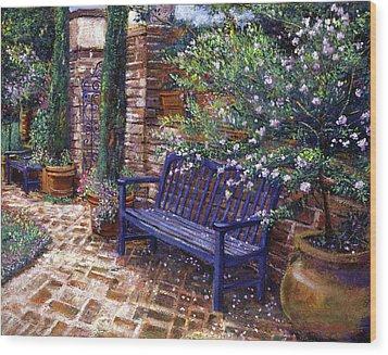 A Shady Resting Place Wood Print by David Lloyd Glover