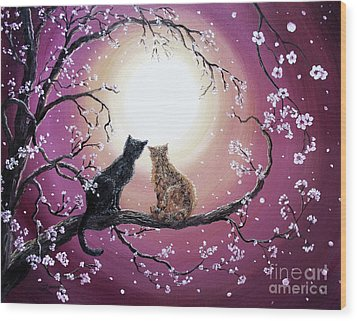 A Shared Moment Wood Print by Laura Iverson