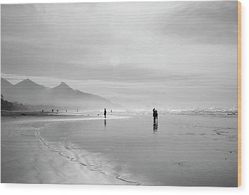 A Silver Day On The Beach Wood Print by Dan Dooley