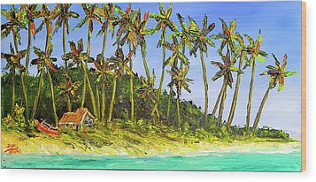 A Simple Life#374 Wood Print by Donald k Hall