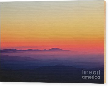 Wood Print featuring the photograph A Simple Sunrise by Douglas Stucky