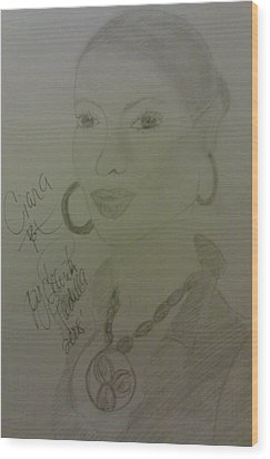 A Singer Ciara Wood Print