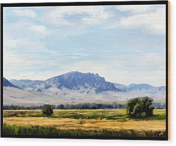 Wood Print featuring the painting A Sleeping Giant by Susan Kinney