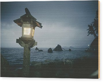 A Small Wooden Lantern Looks Wood Print by Luis Marden