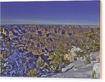 A Snowy Grand Canyon Wood Print
