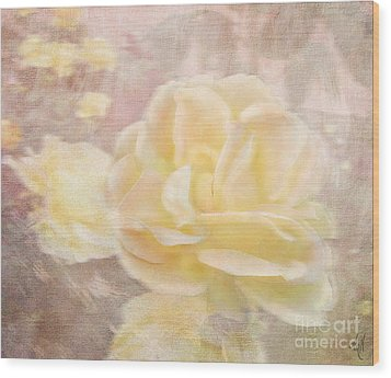 A Softer Rose Wood Print by Victoria Harrington