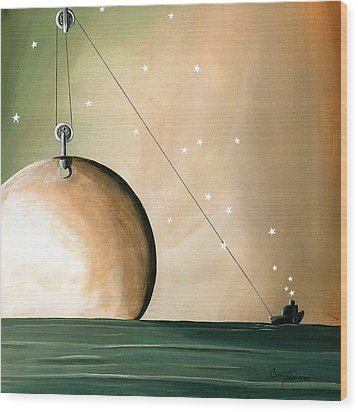 A Solar System Wood Print by Cindy Thornton