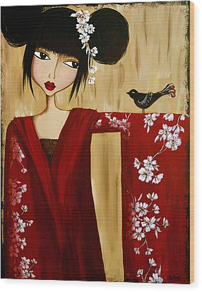 A Song For Suki Wood Print by Debbie Horton