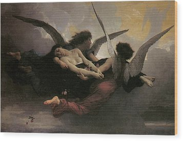 A Soul Brought To Heaven Wood Print by Adolphe William Bouguereau