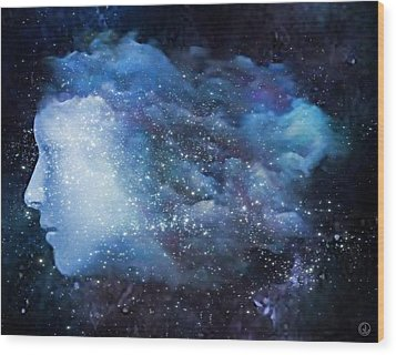 A Soul In The Sky Wood Print by Gun Legler