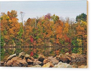 A Splash Of Color Wood Print by John Kiss