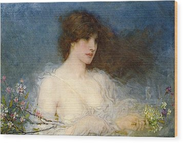 A Spring Idyll Wood Print by George Henry Boughton