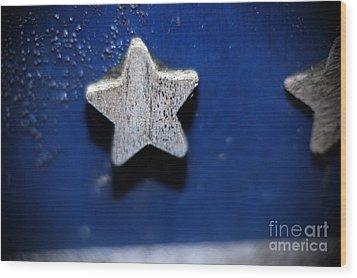 A Star Reborn Wood Print by Cj Mainor