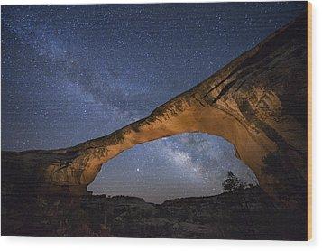 A Starry Night Gleams Above Owachomo Wood Print by Jim Richardson