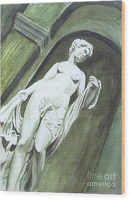 A Statue At The Toledo Art Museum - Ohio Wood Print by Yoshiko Mishina