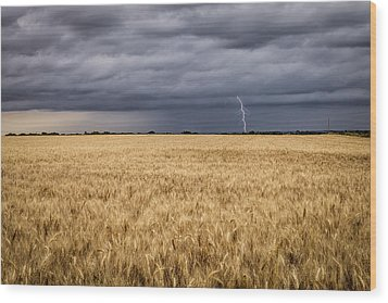 A Storm Passing By Wood Print