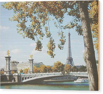 Wood Print featuring the photograph A Stroll Along The River Seine In Paris by Ivy Ho
