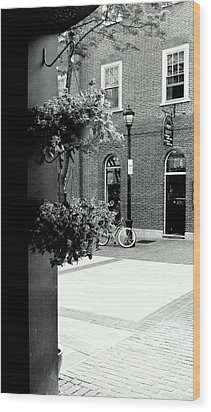 Wood Print featuring the photograph A Stroll Through Town Square by Laura DAddona