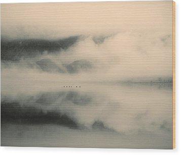 A Study Of Clouds Wood Print by Tara Turner