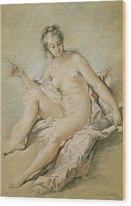 A Study Of Venus Wood Print by Francois Boucher