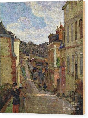 A Suburban Street Wood Print by Paul Gauguin