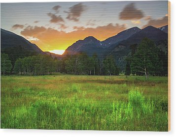 Wood Print featuring the photograph A Summer Evening In Colorado by John De Bord