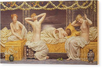 A Summer Night Wood Print by Albert Joseph Moore