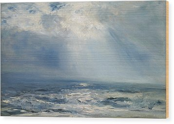 A Sunbeam Over The Sea Wood Print by Henry Moore