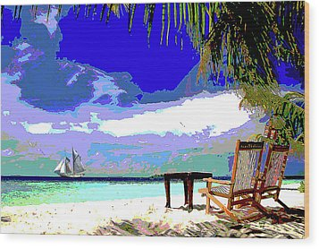 A Sunny Day At The Beach Wood Print