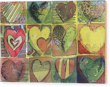 A Sunny Valentine Wood Print by Mindy Newman