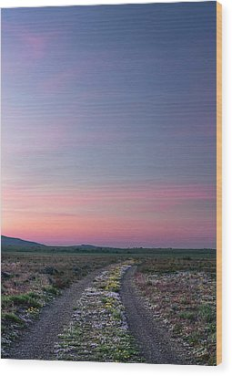 Wood Print featuring the photograph A Sunrise Path by Leland D Howard