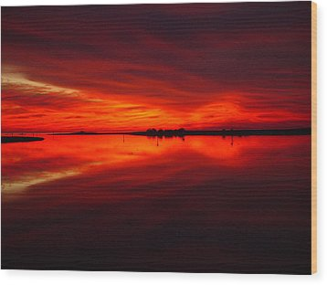 A Sunset Kiss -debbie-may Wood Print by Debbie May