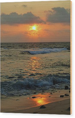 Wood Print featuring the photograph A Sunset To Remember by Lori Seaman