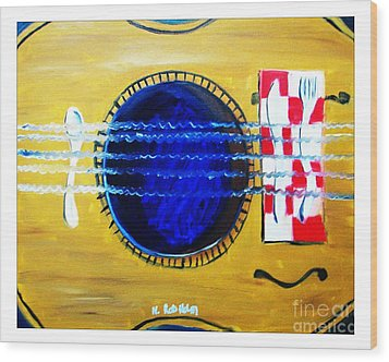 A Taste In Music Wood Print by Nathan Rodholm