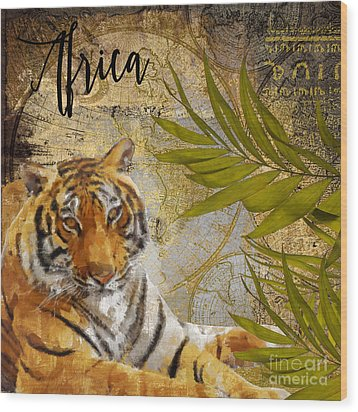 A Taste Of Africa Tiger Wood Print by Mindy Sommers