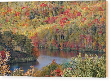 A Tennessee Autumn Wood Print by Debbie Karnes
